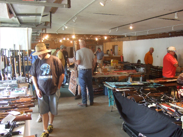 The show consisted of about 40 tables full of air rifles and pistols. Even an air bazooka