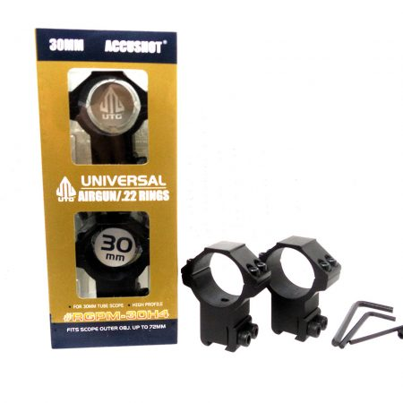 UTG Accushot Universal Airgun /.22 Rings High Profile 30MM