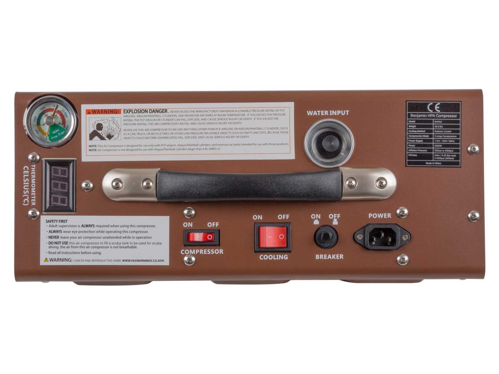 Benjamin Recharge 4500 PSI High Pressure Air (HPA) Compressor